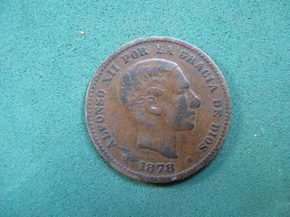 Moneda 5 Centimos, 1878, España Km# 674