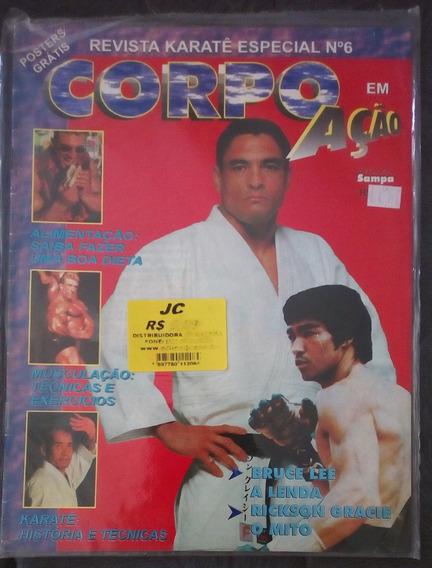 Revista Corpo Em Ação Nº 6 Rickson Gracie + Pôster Bruce Lee