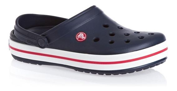 Crocs Crocband Navy Azul Marino Con Rojo De Adultos Original