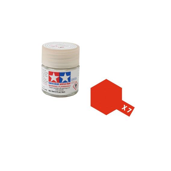 Tinta Acrílica Tamiya Red X7 10ml 81507 X-7 Vermelho