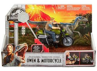 Mattel Jurassic World Persecución Jurásica Owen Con Moto