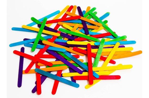 Palitos De Helado De Colores X 50 Unidades Madera