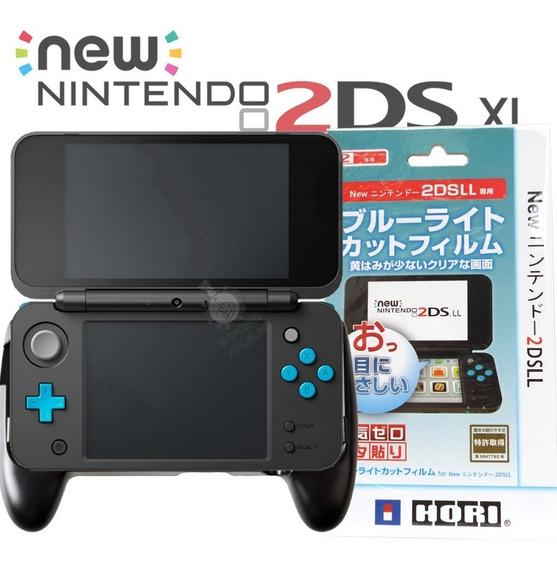 Hand Grip Case Mão + Película Para New Nintendo 2ds Xl Nfe