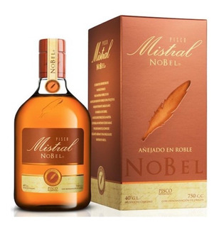 Licor Pisco Mistral Nobel 750ml Barricas Roble Americano