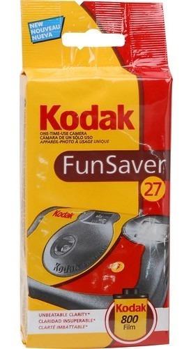 Câmera Descartável De Uso Único Kodak (iso-800) Com Flash