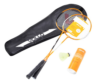 Kit Badminton 2 Raquetes + 3 Petecas De Nylon Vollo Vb002