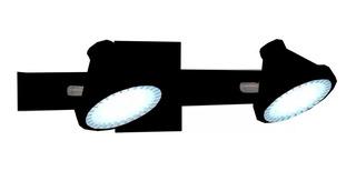 Aplique Pared 2 Luces Ar111 Movil Chapa Blanco Negro