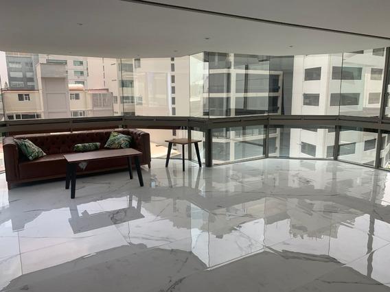 Renta De Departamento Amueblado En Lomas De Chapultepec, Excelente Ubicación