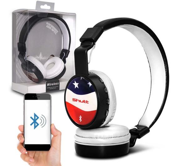 Fone De Ouvido Headphone Eua Wireless P2 Preto Branco Shutt