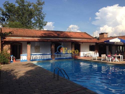 Chácara Com 9 Dormitórios À Venda, 25000 M² Por R$ 6.250.000,00 - Parque Nova Xampirra - Itatiba/sp - Ch0020