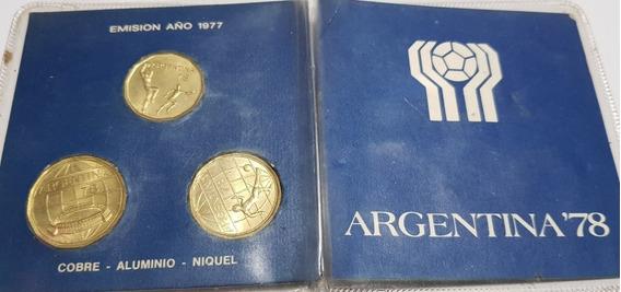 Monedas Del Mundial 78 Edicion Original Emision Año 1977