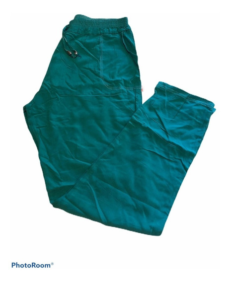 Pantalón De Fibrana Mujer Talle 38 Cintura Elastico