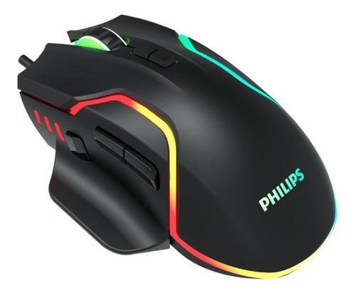 Imagen 1 de 4 de Mouse Gamer Philips G525 2400dpi Iluminado - Revogames