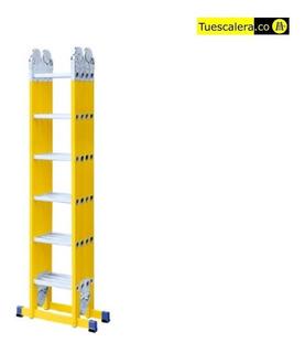Escalera Multiproposito Fibra De Vidrio 24 Pasos (4x6)