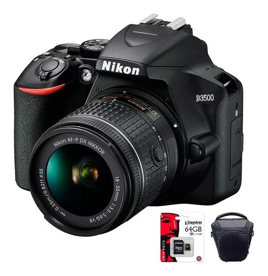 Camara Nikon D3500 Reflex Profesional Fotos + Bolso + 64gb