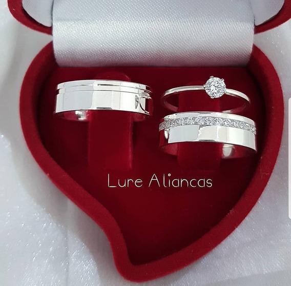 Alianças De Compromisso Em Prata 950, 6mm, Anatômicas, Lisas