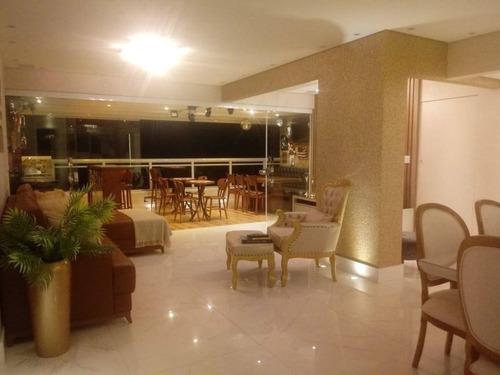 Apartamento Alto Padrão Com 3 Suítes À Venda, 162 M² Por R$ 1.700.000 - Canto Do Forte - Praia Grande/sp - Ap3627