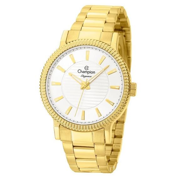 Relógio Champion Elegance Feminino Dourado Cn27536h Original