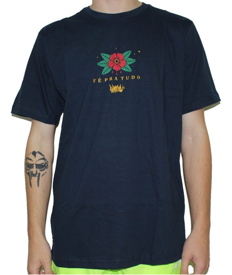 Camiseta Chronic Original Fé Pra Tudo Azul Envio Imediato
