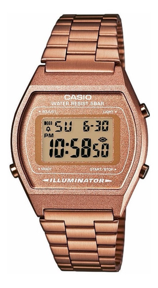 Relógio Casio Feminino Vintage B640wc 5adf Rose Digital