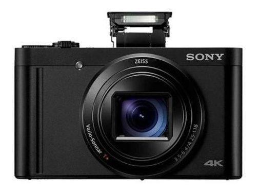 Câmera Sony Dsc-wx800 Compacta Lente Zeiss Preto