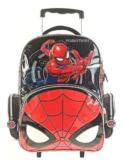 Mochila Spiderman Con Carro 17 Pulgadas Primaria Nene Origin