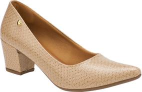 Sapato Feminino Scarpin Salto Grosso Conforto   P02cr.scp