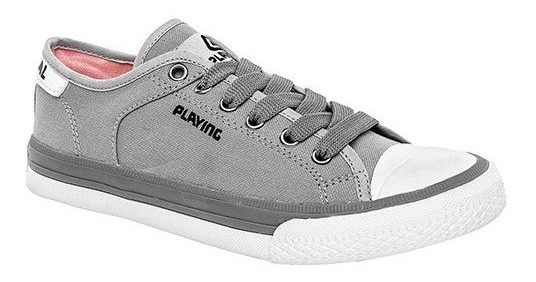Playing Tenis Casual Mujer Gris Textil C07966 Udt