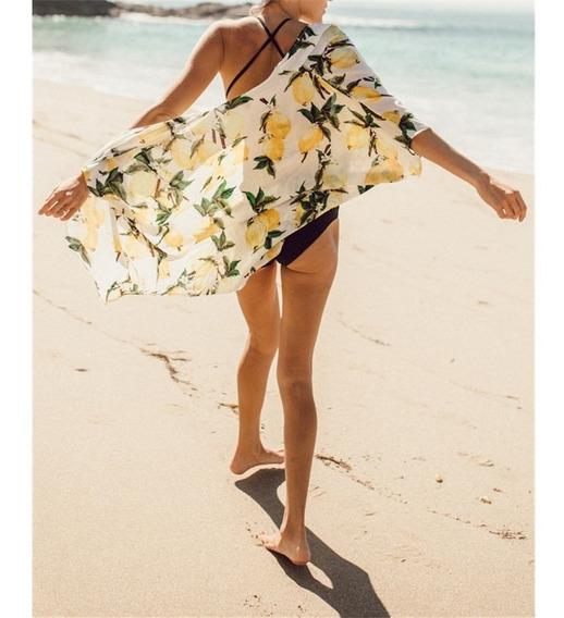 Kimono Cárdigan Salida Baño Ropa Playa Pareo Bikini Piscina