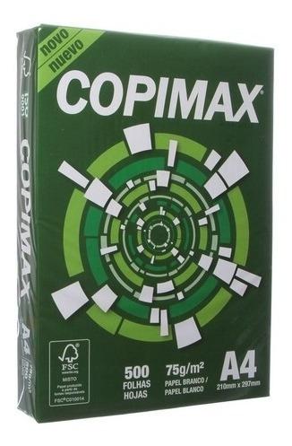 Resma Papel Sulfite A4 75gr. 210 X 297mm 500 Folhas Copimax