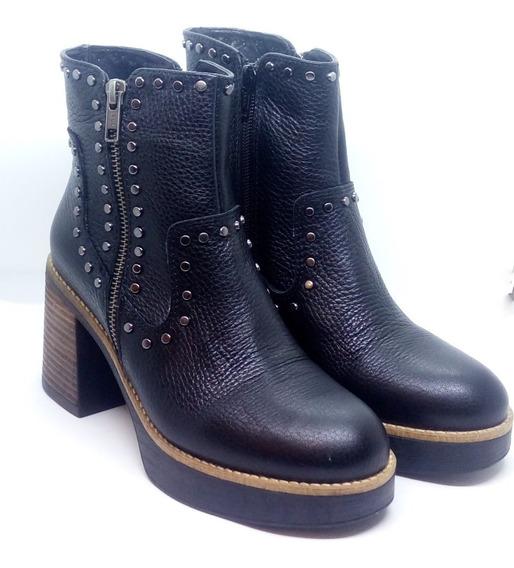 Botas Mujer Cuero Taco Plataforma Zuca Art 701 Zona Zapatos