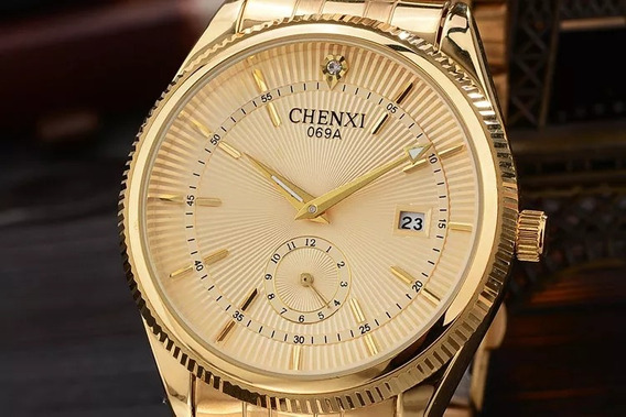 Relógio Feminino Pulseira Dourada Lindo Barato P/ Entrega
