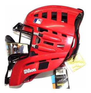 Careta Estilo Hockey Para Catcher Wilson Roja