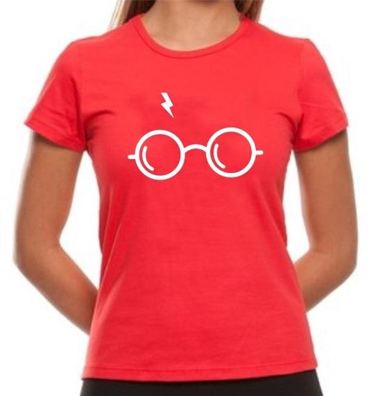 Camiseta Babylook Harry Potter Óculos Cicatriz Oferta