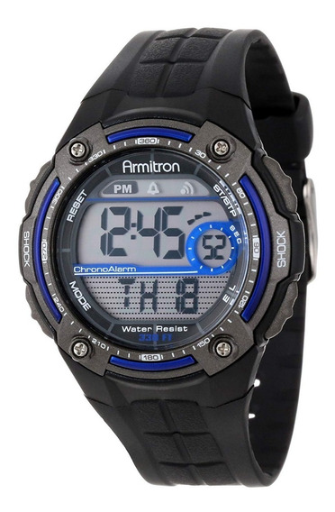 Armitron Hombre 40/8189blu Reloj Digital Cronógrafo 45mm