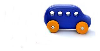 Auto De Madera Artesanal Varios Colores Ldm