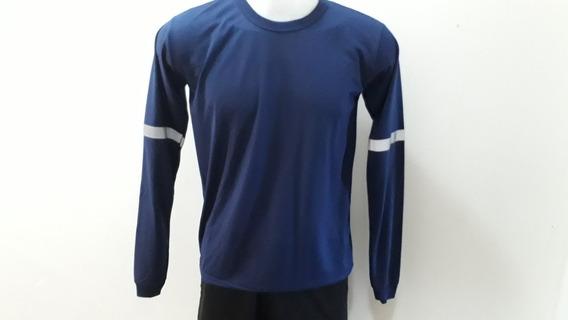 Kit Com 100 Camiseta M Longa ,com Faixa Refletiva Na Manga