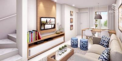 Casas Duplex Em Caucaia, Condomínio Fechado, 2 Quartos, Suíte, Quintal. Programa Minha Casa, Minha Vida. - Ca0107