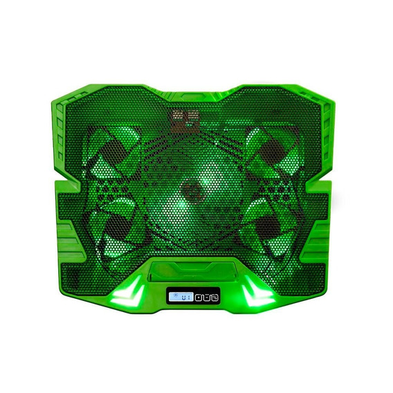 Base Master Cooler Gamer Verde Com Led Warrior Ac292