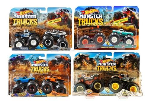Hot Wheels - Monster Trucks 2-pack Surtido Escala 1:64