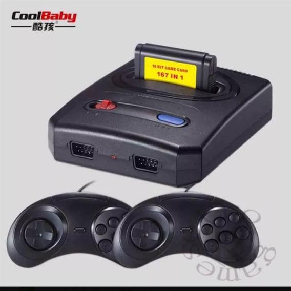 Mini Video Game Com 167 Jogos De Mega Driver