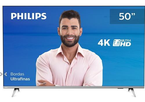 Imagem 1 de 8 de Smart Tv 50pug6654 50 4k Hdr10 Bluetooth Borderless Philips