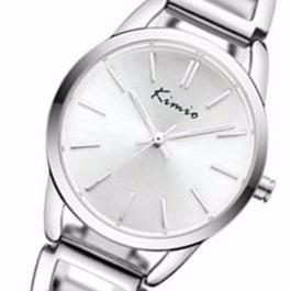 Relógio Prata Feminino Kimio Kw6105 Business Social Clássico
