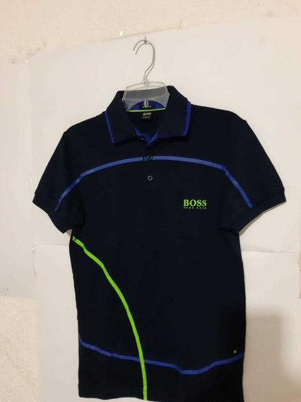 Playera Polo Hugo Boss Azul Obscuro