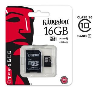 Memoria Micro Sd Kingston 16gb Clase 10