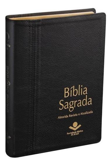 Bíblia Sagrada Letra Gigante = Capa De Couro Legítimo R. A.
