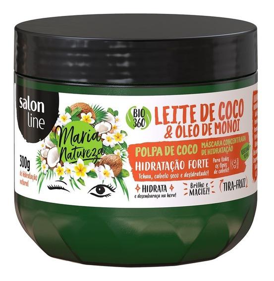 Máscara Maria Natureza Leite Coco E Óleo De Monoi Salon Line