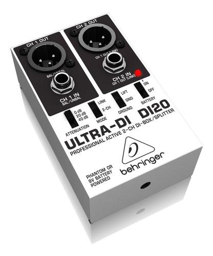 Caja Directa Activa Ultra-di Di-20 Behringer 2 Canales