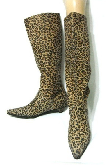 Blaque Botas 40 Cuero Vacuno Animal Print Leopardo (ana.mar)