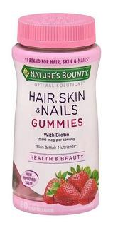 Natures Bounty Hair Skin & Nails Gummies X 80 Comp